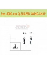 Застежка Gurza Q-Shaped Swing Snap SWS3000 BK №14