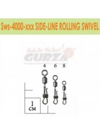Застежка Gurza Side-Line Rolling Swivel SWS400 BK №4