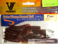 Силикон Winner Tube Worm Round Tail TBR-004 2,0'' 50мм 1,4гр 12шт Col 010