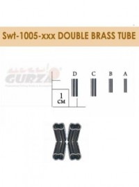 Трубка Gurza обтискна Double Brass Tube Swt1005 d=1,5x3,2x10mm №D