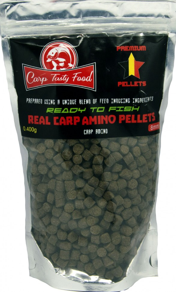 Пеллетс Carp Tasty Food Premium Carp Amino Pellets 8mm 400гр