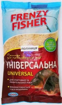 Прикормка Frenzy Fisher 1000гр Универсал-клубника