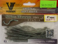 Силикон Winner Slim Worm TBR-022 4,0'' 100мм 1,5гр 12шт Col 005