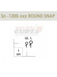 Застежка Gurza ROUND SNAP SN1200 №UL