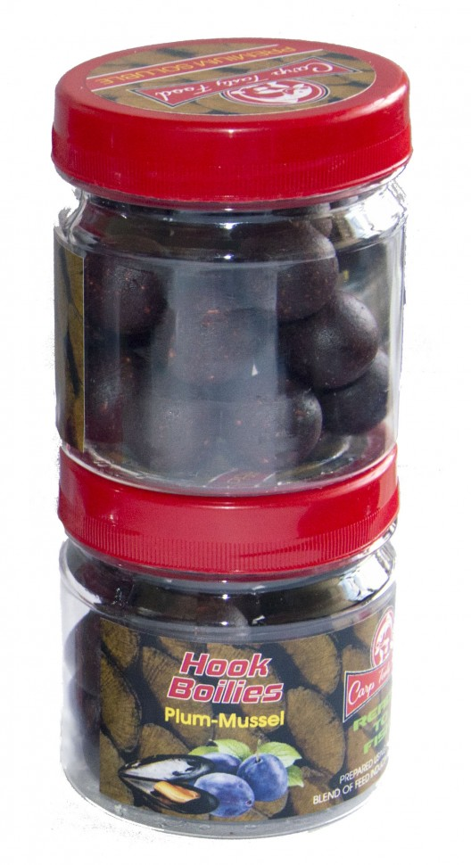 Бойлы Carp Tasty Food насадочный Premium Plum-Mussel 20 mm Soluble