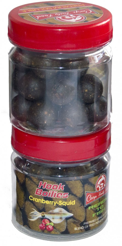 Бойлы Carp Tasty Food насадочный Premium Cranberry-Squid 20 mm Soluble